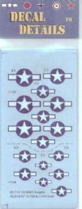 US-114  US WW II fighter insignia, 1/100 and 1/144 scale
